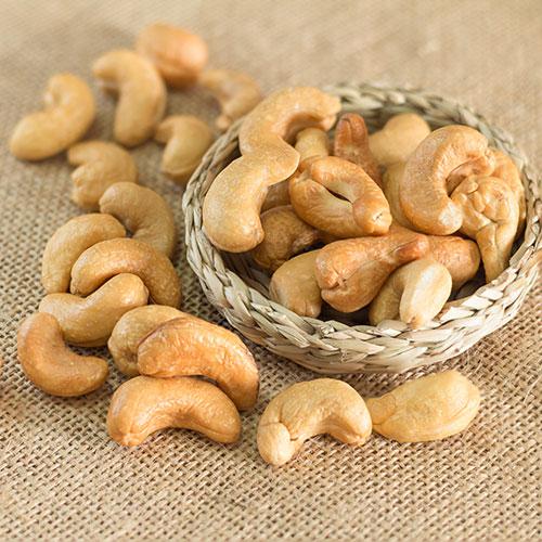 Bulk Salted & Roasted Whole Cashews: 5 lbs